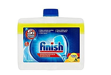 Finish Spülmaschinen Reiniger 250ml 4Stück, 5x Power Aktionen, Lemon Sparkle Reinigung