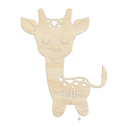 Nachtlicht Greta die Giraffe Kinderzimmer-Lampe/Tauf-Geschenk oder zur Geburt/Personalisiert mit Wunsch-Name für Mädchen oder Jungen - WunschName, Stilleuchte, Schlummerleuchte, nachtlicht babyzimmer, Nachtlicht, Mädchen, Jungen, Giraffe, GeburtPersonalisiert, Babyzimmer