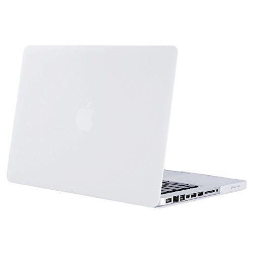 MOSISO Funda Dura para Old MacBook Pro 13 Pulgadas con CD-ROM A1278 (Versión 2012/2011/2010/2009/2008),Carcasa Rígida Protector de Plástico Cubierta, Blanco