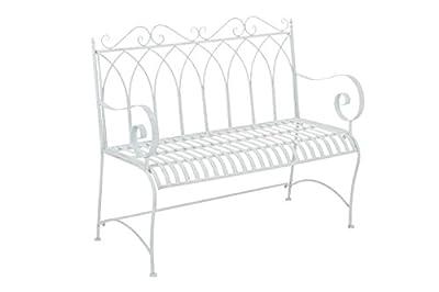 CLP Gartenbank DIVAN im Landhausstil, aus lackiertem Eisen, 106 x 51 cm - aus bis zu 6 Farben wählen