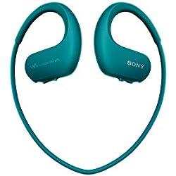 Sony Walkman NW-WS413 - Lecteur MP3 Intégré à des Ecouteurs - Etanche - 4 GB - Bleu