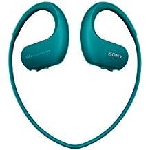 Sony NW-WS413 Lettore Musicale Digitale Walkman Wireless, Memoria interna 4GB, Resistente all'acqua, Blu