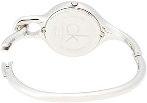 Calvin Klein K1N22120 - Reloj analógico de cuarzo para mujer con correa de acero inoxidable, color plateado de Calvin Klein