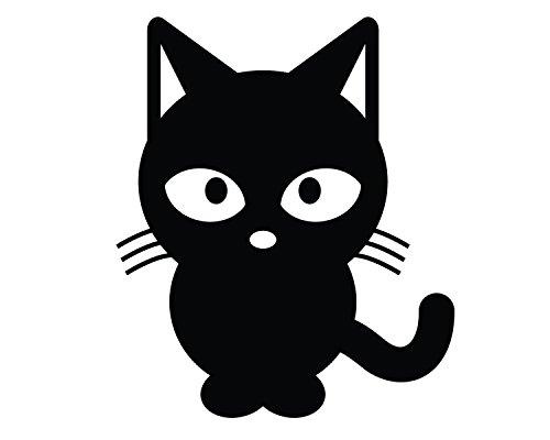 Preisvergleich Produktbild süße Katze 10cm hochwertige UV-beständige Aufkleber,Sticker, für Auto,Wand,Laptop,Fliesen,Bad,Badezimmer,WC, und alle glatten Flächen aus Hochleistungsfolie ohne Hintergrund,