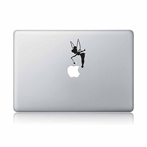 idecalworks Tinker Bell Fairy Peter Pan Disney MacBook Laptop Aufkleber Vinyl Aufkleber Apple Mac Air Pro Laptop Aufkleber (Disney Decal Mac)