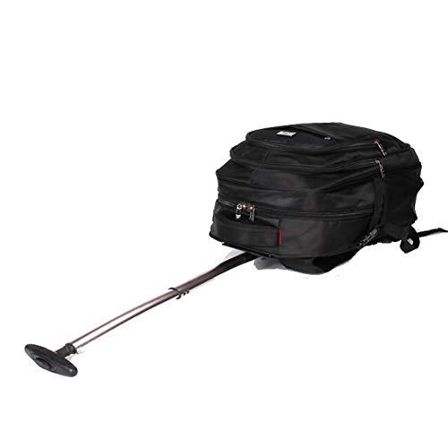 HBHJG Nylon Trolley Bag mit Rollen, Business Travel Wheeled Rolling Laptop Tablet Trolley Rucksack Gepäck Handgepäckfach, schwarz -