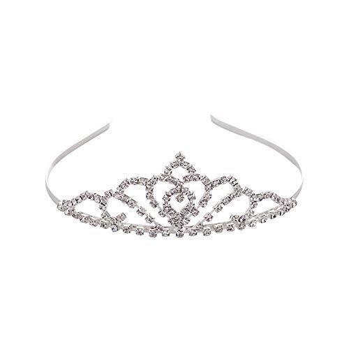 Dastrues Braut Prinzessin Crown Tiara Strass Haarschmuck Headwear -
