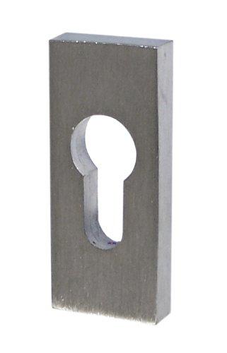 Massiv Edelstahl Profilzylinder Schieberosette SR-5240 Rechteck Schutzrosette NEU