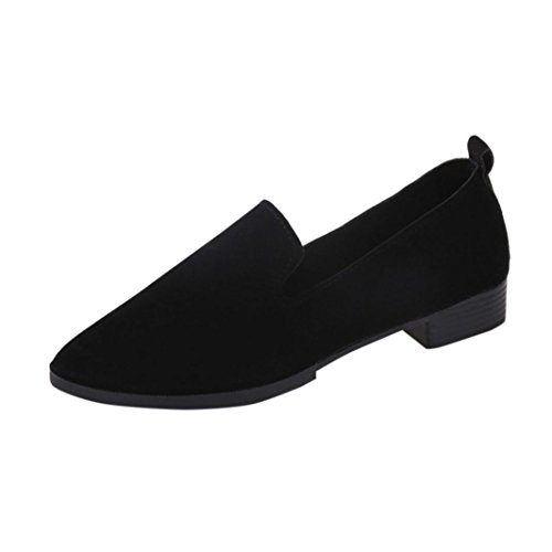 Klassische Damen Ballerinas Übergrößen Schuhe Elegante Slippers Stoffschuhe Slipper Party Schuhe Geschlossene Tanzschuhe Übergangsschuhe Freizeitschuhe LMMVP (40CN, Schwarz)