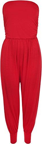 WearAll - Combinaison bain du soleil en style 'harem' - Combinaisons - Femmes - Tailles 36 à 42 Rouge