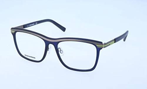 Dsquared2 d squared brillengestelle dq5176 091-53-16-140 montature, blu (blau), 53.0 uomo