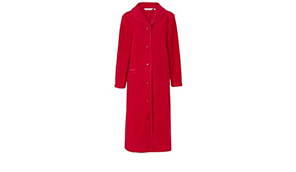 da256f7a8251 Slenderella HC6321 Women s Red Dressing Gown House Coat Robe  Slenderella   Amazon.co.uk  Clothing