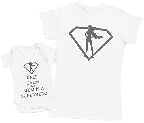 Zarlivia Clothing Keep Calm My Mum Is A Superhero - Regalo para Madres