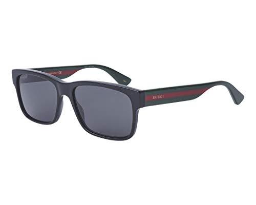 Gucci Herren GG0340S-006 Sonnenbrille, Schwarz (Negro/Multicolor), 58.0