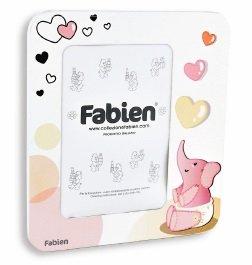 Portafoto in legno elefantino rosa - prima foto bimba
