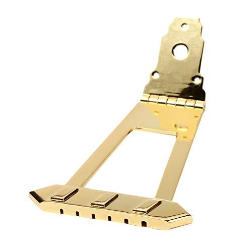 Healifty 6 String Quadratische Form Trapez Saitenhalter Hohlkörper Archtop Saitenhalter Für Jazz Gitarre Verwenden (Golden)