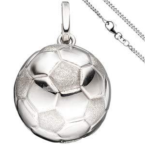 r Fußball 925 Silber Fußballanhänger mit Kette 38 cm ()