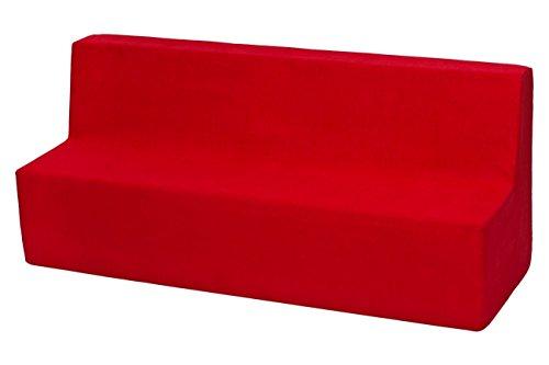 Velinda Kindersofa Kindercouch Spielsofa Softsofa Minicouch Sitzbank Kindermöbel (Farbe: rot)