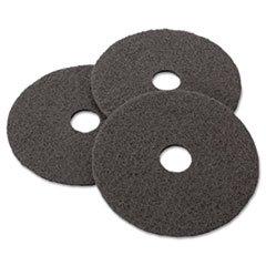 Stripper Floor Pad 7200, 17, Black, 5 Pads/Carton, Sold as
