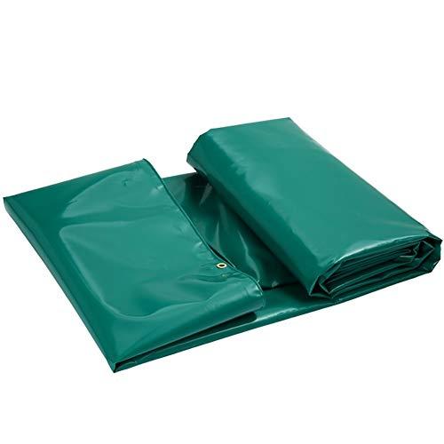 YINUO Verdicktes PVC-Regenschutztuch Sonnencreme Sonnenschutzregendichte winddichte Plane Drei Stoffschutztuch Markisentuchmesser Kratztuch Benutzerdefiniert (Color : Green, Size : 5.9x3.8m)