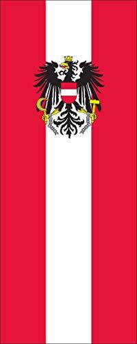 flaggenmeer® Flagge Österreich mit Wappen 110 g/m² ca. 200 x 80 cm