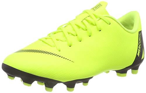 Nike Unisex-Kinder Jr Vapor 12 Academy Gs Mg Fußballschuhe Grün (Volt/Black 701) 33.5 EU