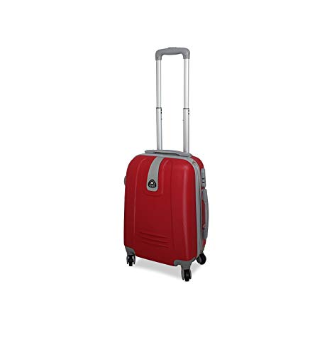 f0dd5340f5 Trolley valigia 55cm bagaglio a mano ABS 40L 2.4kg super leggera ORMI188  (rosso)