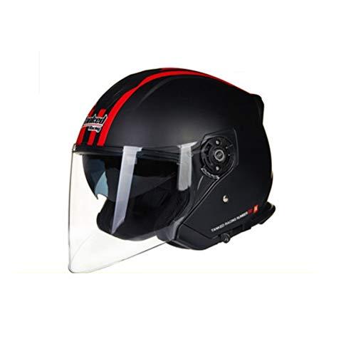 Casco moto bluetooth unisex anti shock luce doppia lente mezza faccia caschi moto per outdoor mountain racing moto motocross protezioni di sicurezza in tutte le stagioni