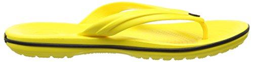 Crocs Crocband Flip U, SaCrocs Crocband Flip U, Sandali, Unisex - adulto Verde (Lemon/Black)