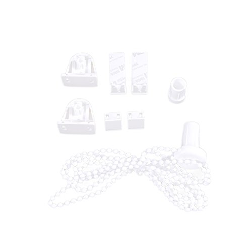 Vosarea 17mm Zebra Roller Shade Blind Perlen Kette Schnur Clutch Blinds Connectors Jalousie Stecker Set (weiß) -