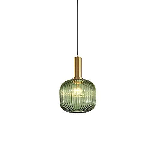 XUEGM-Light Mini Kücheninsel Kleine Pendelleuchten Esszimmer Leuchten Hängeleuchte Modernes Design Rustikalen Stil Grünglas Schatten Bauernhaus Schlafzimmer