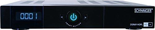 Schwaiger DSR691HDPL Full-HD Satelliten Receiver inkl. HD+ Karte für 6 Monate und Thimeshift Funktion