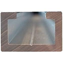 Perfil de aluminio c, 1,5m, apto para M8Tornillo, anodizado, aluminio c, perfil 17x 11mm