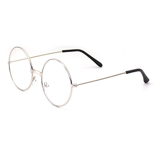 Mädchen Junge Runde Brille - Clear Lens Glasses Frame Geek / Nerd Brillen mit Car Shape Gläser Fall - (Und Geeks Nerds Kostüme)
