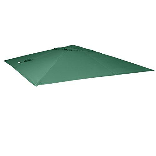 Mendler Bezug für Luxus-Ampelschirm HWC-A96, Sonnenschirmbezug Ersatzbezug, 3x4m (Ø5m) Polyester 3,5kg ~ dunkelgrün