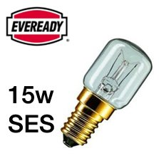 Eveready ERPYG15SESC Eveready Pygmy Bulb Appliance Lamp, Glass, Clear White, E14, 15 W, Pack of 5