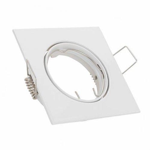 Evila - Aro empotr.basculante cuadrado/a mr16 12v 50w blanco