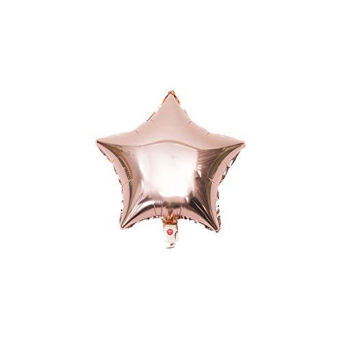 Klar Latex-Ballon für Hochzeit Alles Gute zum Geburtstag-Partei-Dekoration, 18Zoll Rosegold S, 1Pcs ()