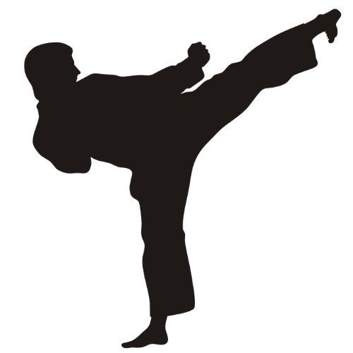 das-label Karate Autoaufkleber Sportaufkleber schwarz