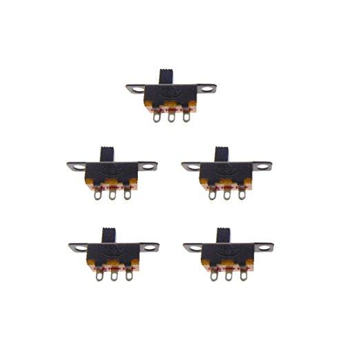 B2Q Mini Schiebeschalter Schalter SS12F15 3pin ON-ON 5 Stück (0051) -