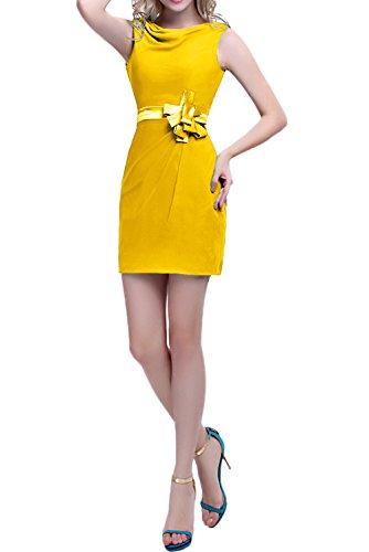 Promgirl House - Robe - Crayon - Femme Jaune