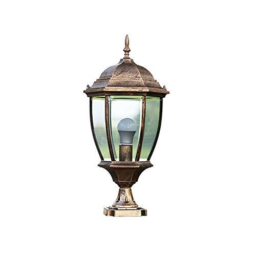 Xungel Im Freien wasserdichte Säulen-Licht-zeitgenössische Einfachheits-Bürgschaft LED-Wand-Spalten-Licht-Rostschutzmetallaluminiumpfosten-Lampe Landhaus-Rasen-Laterne im Freien dekorative Beleuchtung -