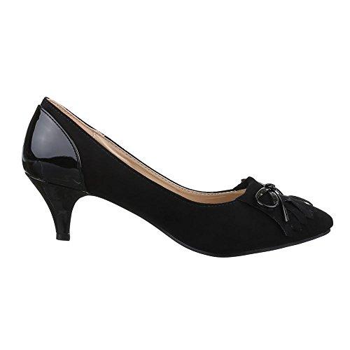 Damen Schuhe, 33-5, PUMPS MIT DEKOSCHLEIFE Schwarz
