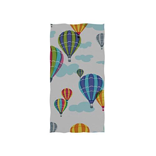 Enhusk Heißluftballon Outdoor Soft Spa Strand Badetuch Fingerspitze Handtuch Waschlappen Für Baby Erwachsene Bad Strand Dusche Wrap Hotel Travel Gym Sport 30x15 Zoll (Billig Luftballons Benutzerdefinierte)