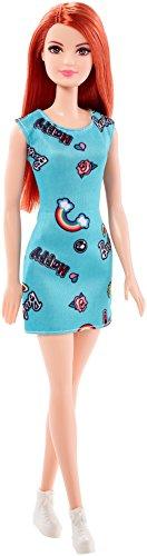 Barbie Muñeca Chic pelirroja vestido azu (Mattel FJF18)