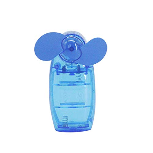 r Hot Lovely Mini Portable Pocket Fan Cool Air Hand Held Travel Battery Powered Blower Electric Cooler New blau ()