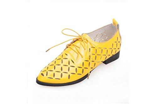 Beauqueen Pompe Casual Scarpe primavera e l'estate piatto Hollow White Giallo Rosso Nero Oro Argento 34-43 femminili delle donne Yellow
