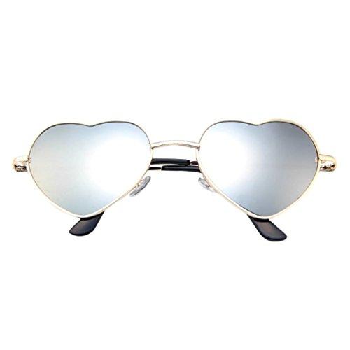 Homme femmes cadre en métal dames coeur forme lunettes de soleil Lolita Love Malloom Malloom®_Plage