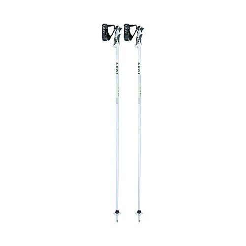 LEKI Damen Skistock Fine S, Base Color White/Design: Pearl White-Green-Anthr, 110 cm, 632-6660