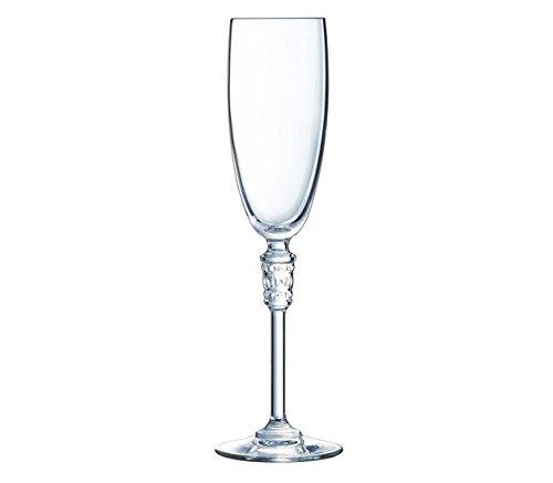Cristal d'Arques L8147 Set de 6 Flûtes, Cristallin, Transparent, 23,1 x 15,6 x 24,4 cm